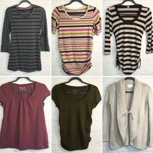 Lot of 5 maternity tops & 1 sweater